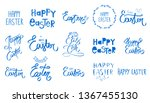 big easter collection. hand... | Shutterstock .eps vector #1367455130