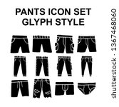 hand drawn vector pants icon... | Shutterstock .eps vector #1367468060
