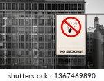 no smoking sign and no smoking... | Shutterstock . vector #1367469890