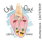 chill out slogan with hand... | Shutterstock .eps vector #1367478539