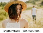 frustrated young woman looking... | Shutterstock . vector #1367502206