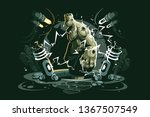 monster character vector... | Shutterstock .eps vector #1367507549