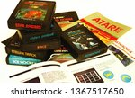 atari 2600 video games and game ... | Shutterstock . vector #1367517650