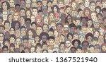 Diverse Crowd Of People  Kids ...