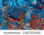 electronic circuit board close... | Shutterstock . vector #1367522453