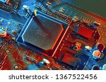 electronic circuit board close... | Shutterstock . vector #1367522456
