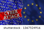 european union and cyber attack ... | Shutterstock . vector #1367524916
