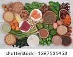 health food high in protein...   Shutterstock . vector #1367531453