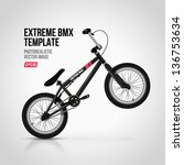 Extreme BMX template - stock vector