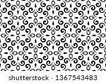 flower geometric pattern.... | Shutterstock .eps vector #1367543483