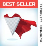 super hero cape. red super... | Shutterstock .eps vector #1367586956