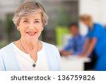 portrait of smiling senior... | Shutterstock . vector #136759826