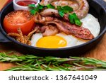 nutritious meal with fried egg  ... | Shutterstock . vector #1367641049
