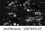 percent signs on dark...   Shutterstock .eps vector #1367643110