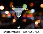 glass of margarita cocktail... | Shutterstock . vector #1367653766