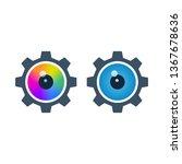 colorful eyeballs in gears on... | Shutterstock .eps vector #1367678636