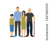 family members group flat icon   Shutterstock .eps vector #1367682410