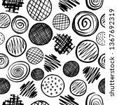 seamless pattern of black hand...   Shutterstock .eps vector #1367692319