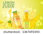 lemon juice. a realistic...   Shutterstock .eps vector #1367692343