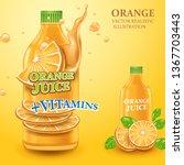 orange juice. 3d vector...   Shutterstock .eps vector #1367703443