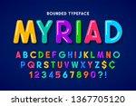 flat bubble comical font design ... | Shutterstock .eps vector #1367705120