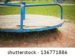 Old Children Carousel  Shabby...