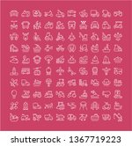 collection of line white icons... | Shutterstock . vector #1367719223