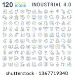 set of line icons of industrial ... | Shutterstock . vector #1367719340
