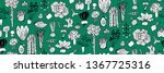 hand drawn seamless vector...   Shutterstock .eps vector #1367725316