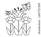 flower butterfly decoration | Shutterstock .eps vector #1367727209