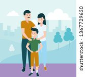 dad mom and son   Shutterstock .eps vector #1367729630