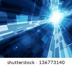 abstract virtual space with... | Shutterstock .eps vector #136773140