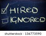 chalk writings on blackboard ... | Shutterstock . vector #136773590