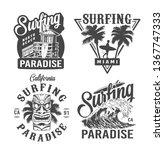 vintage surfing time prints...   Shutterstock .eps vector #1367747333