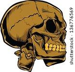 vector skull artwork   Shutterstock .eps vector #136776569