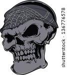 vector skull artwork | Shutterstock .eps vector #136776578