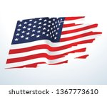 usa flag vector | Shutterstock .eps vector #1367773610