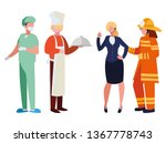 group of professional workers... | Shutterstock .eps vector #1367778743