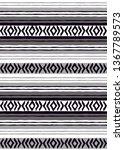 tribal black and white... | Shutterstock .eps vector #1367789573