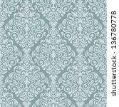 damask seamless pattern for... | Shutterstock .eps vector #136780778