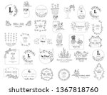 premium floral logo templates... | Shutterstock .eps vector #1367818760