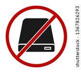 no hdd icon or stop using hdd... | Shutterstock . vector #1367826293