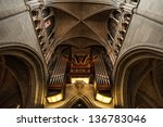 Church Organ In Side Of Notre...
