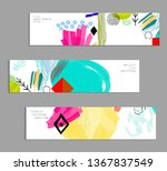 abstract universal art web... | Shutterstock .eps vector #1367837549