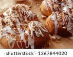 danish pastry with icing | Shutterstock . vector #1367844020
