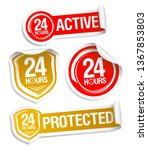 24 hours active and 24 hours... | Shutterstock .eps vector #1367853803
