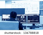 modern plant control room and... | Shutterstock . vector #136788818