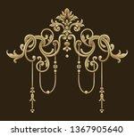golden elements in baroque ... | Shutterstock . vector #1367905640