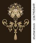 golden elements in baroque ... | Shutterstock . vector #1367905649