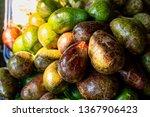 fresh avocado on the market.... | Shutterstock . vector #1367906423